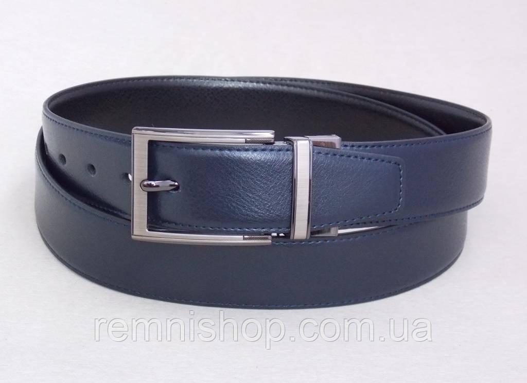 Классический двухсторонний кожаный пояс Alon черный / синий