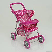 Іграшкова коляска для ляльок 9366, кошик для покупок, складана ручка, іграшкові коляски, складна, фото 1