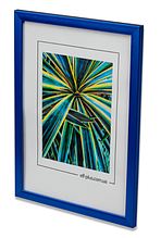 Рамка а4 из пластика - Синий яркий металлик - со стеклом