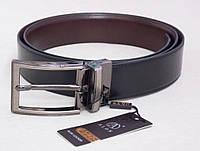 Мужской ремень кожаный ALON двухсторонний, фото 1