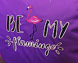 Кресло-мешок бескаркасное груша пуф фламинго, фото 2