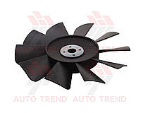 Крыльчатка вентилятора радиатора ГАЗель 3302 дв. ЗМЗ 402, 406, 10 лоп. черная, с пластиной для установки | 3302-1308010-10 | Китай ГАЗ
