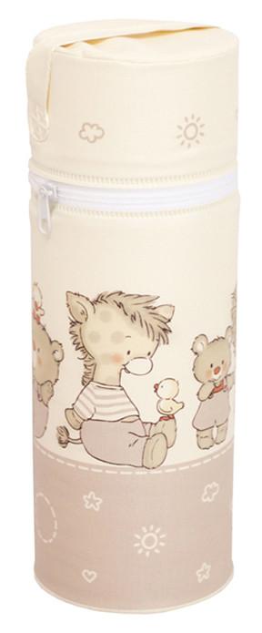 Термоконтейнер Ceba Baby Standard 63*63*225мм  бежевый (собачка, утка, слон, мишка)
