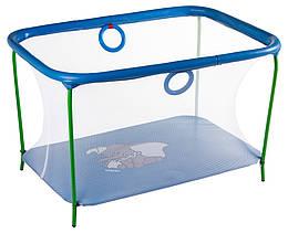 Манеж Qvatro LUX-02 мелкая сетка  синий (слон dumbo)
