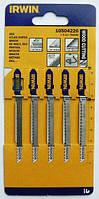 Пилки Irwin тип T101AO для электролобзика, для резки дерева, 5 шт.