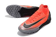 Футбольные сороконожки Nike SuperflyX VI Elite TF Flash Crimson/Black/Total Crimson, фото 1