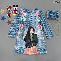 Сукня з сумочкою для дівчинки. 10-11 років