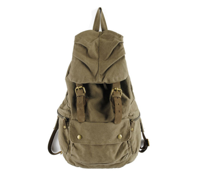Городской рюкзак хаки вид спереди