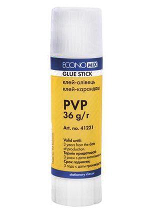 Клей-карандаш Economix, основа PVP, 36г