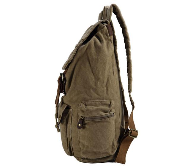 Городской рюкзак хаки вид сбоку