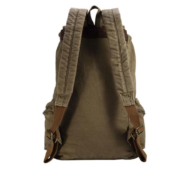Городской рюкзак хаки вид сзади