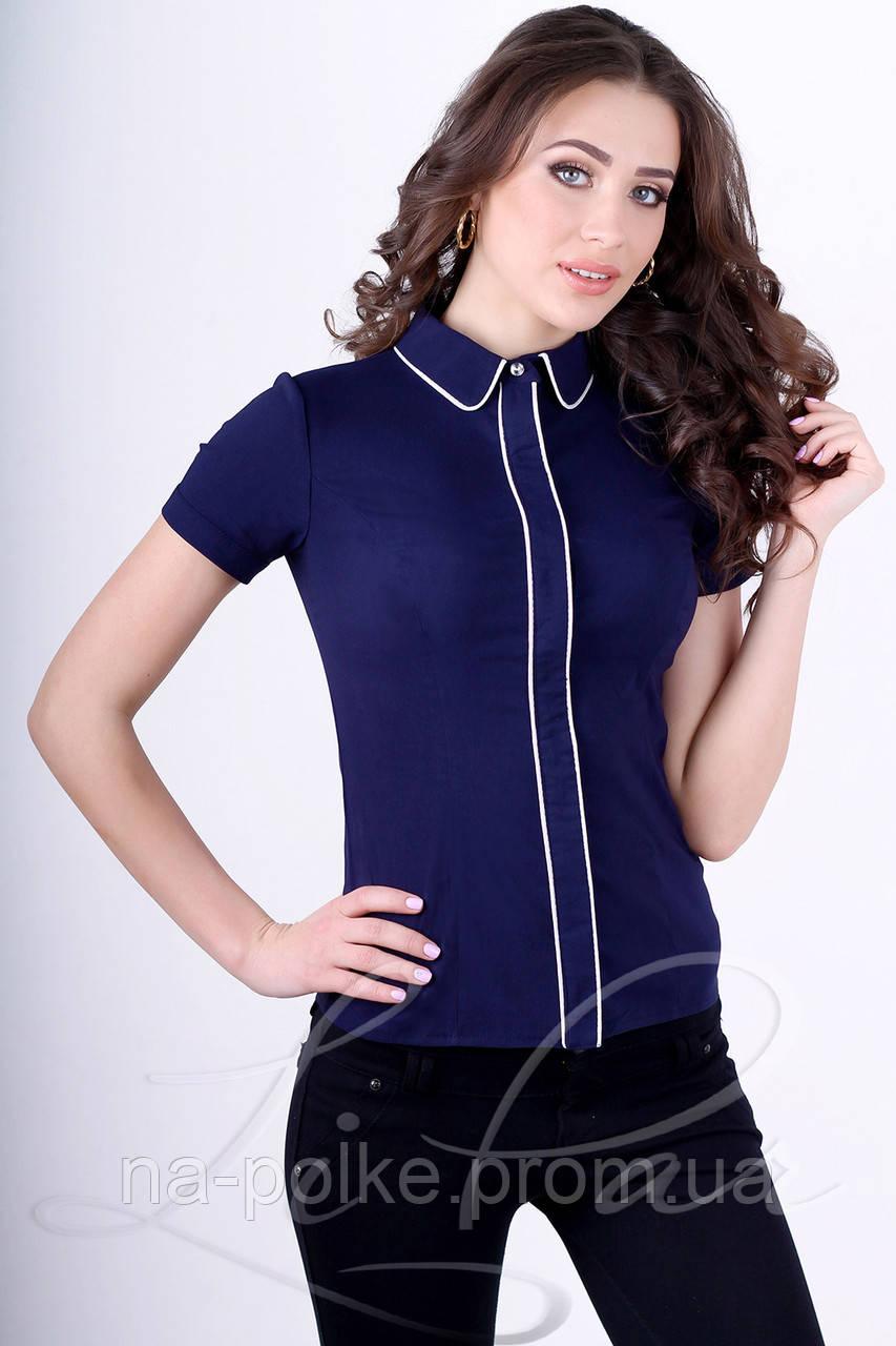(2049) Женская Блуза Синий 42