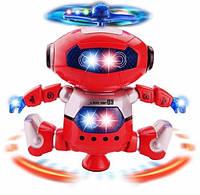 """Интерактивный Робот Танцор 360 """" свет и звук красный цвет"""
