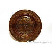 Резная  тарелка  с гуцульским орнаментом (30 см.)