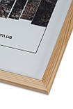 Рамка а4 из дерева - Сосна светлая 1,5 см - со стеклом, фото 2