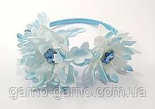 Обруч для Снежинки Корона с голубыми серединками ободок снежинка обруч