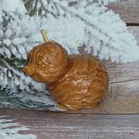 Красивая свеча капустная свинка, ручная работа. Вес 150 г. Сюрприз друзьям на рождество