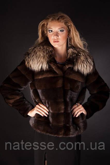 Шуба Полушубок-автоледи из датской норки Real mink fur coats jackets