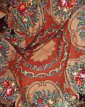 Русские сезоны 948-17, павлопосадская шаль из уплотненной шерсти с шелковой вязаной бахромой  Стандартный сорт, фото 9