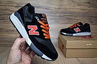 9e203ec968c4 Мужские кроссовки в стиле New Balance 998 черный с оранж замша сеткаа, Код  ОД
