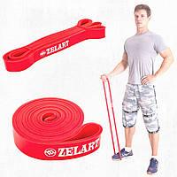 Резиновая петлядля спорта, резина для тренировок, фитнес резинка Zelart M 11-36 кг