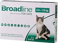Бродлайн (Broadline) Спот-Он от внутренних и внешних паразитов для котов весом 2,5-7,5кг №1 Merial *