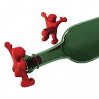 Пробка для бутылки Человечек красный