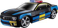 Игровая автомодель Chevrolet Camaro SS RS (Police) чёрный (свет и звук) М1:24 2шт бат АА в комп MAISTO (81236 black)