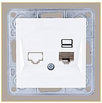 Розетка компьютерная кат. 5 Е LXL Tesla белый