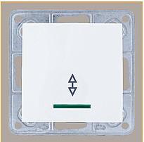 Вимикач прохідний з підсвіткою LXL Tesla білий