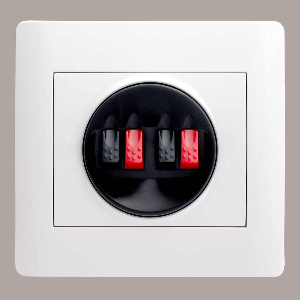 Розетка аудио стерео (с рамкой) LXL Oscar белый