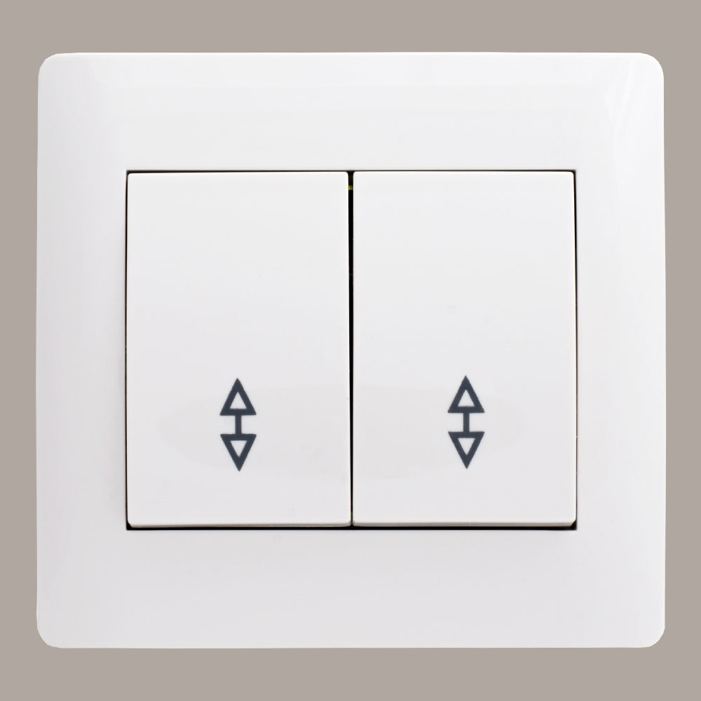 Выключатель проходной двойной (с рамкой) LXL Oscar белый