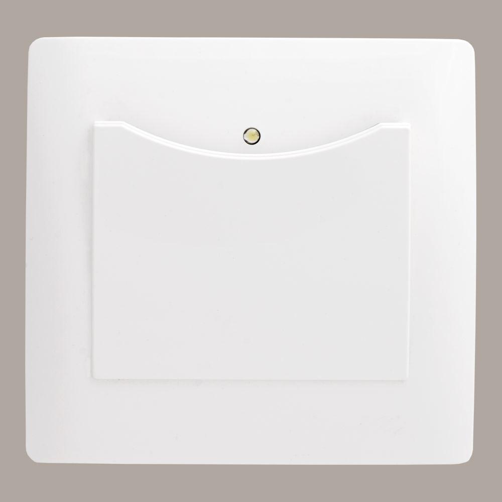 Выключатель энергосберегающий (с рамкой) LXL Oscar белый