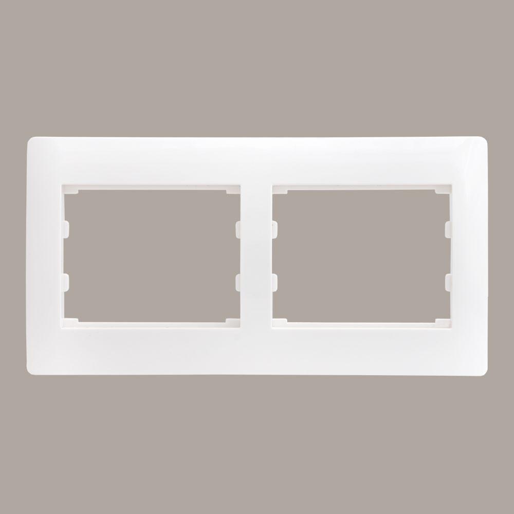 Рамка 2 місця горизонтальна LXL Oscar білий