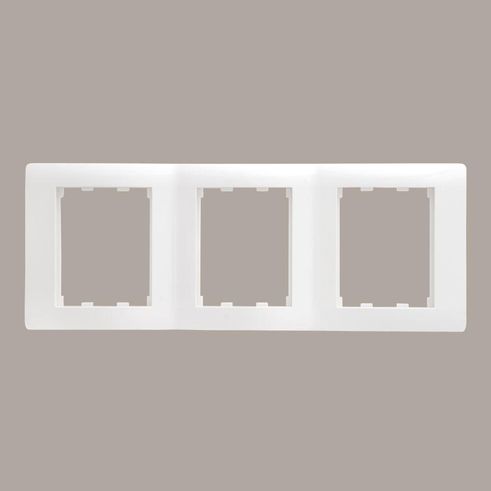 Вертикальна Рамка 3 місця LXL Oscar білий