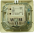 Светорегулятор 500 W (с рамкой) LXL Oscar кремовый, фото 2