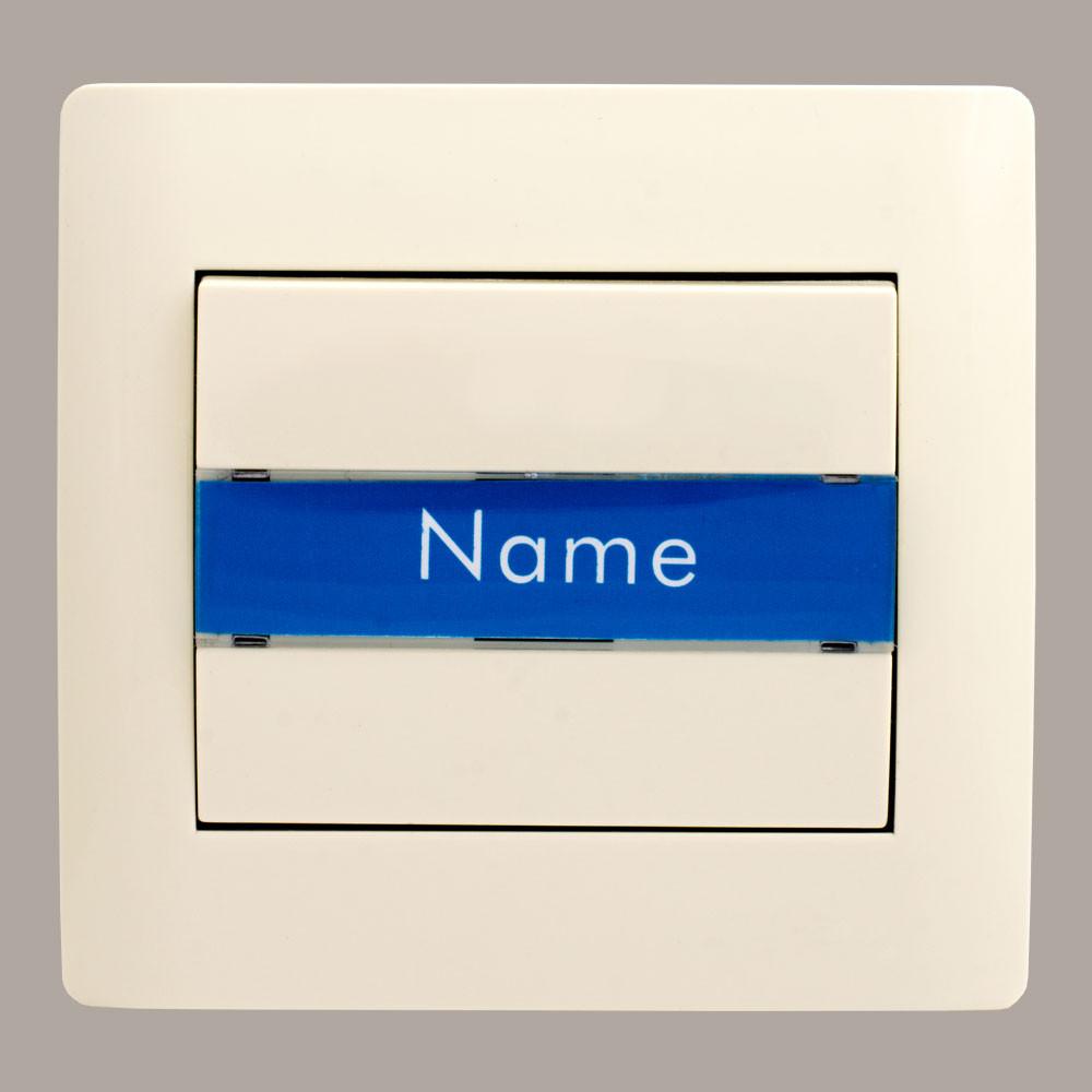 Кнопка звонка с биркой для номера с подсветкой (с рамкой) LXL Oscar кремовая
