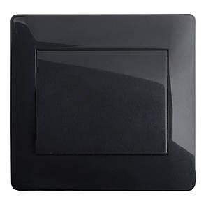 Вимикач (з рамкою) LXL Oscar чорний глянець
