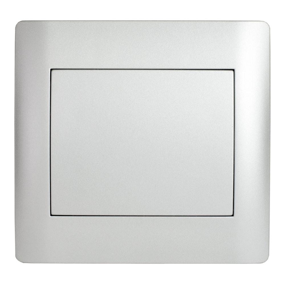 Порожня панель (з рамкою) LXL Oscar срібний металік