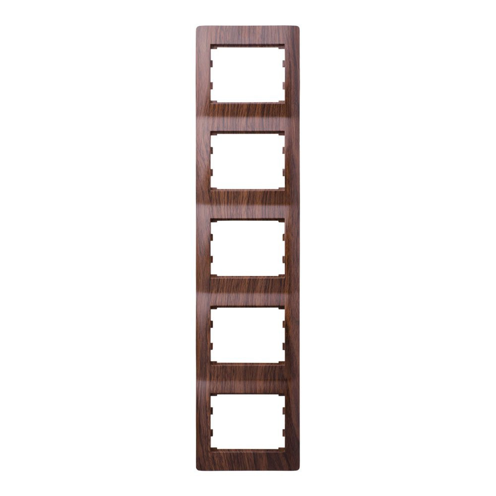 Рамка 5 місць вертикальна LXL Oscar волоський горіх