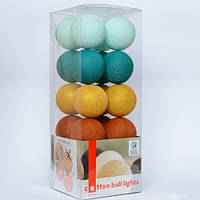 Гирлянда Cottonballlights Golden Breeze, 20 шаров (7887)