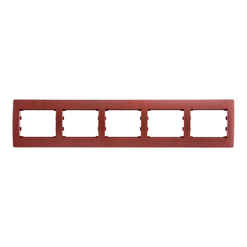 Рамка на 5 місць горизонтальна LXL Oscar вишня