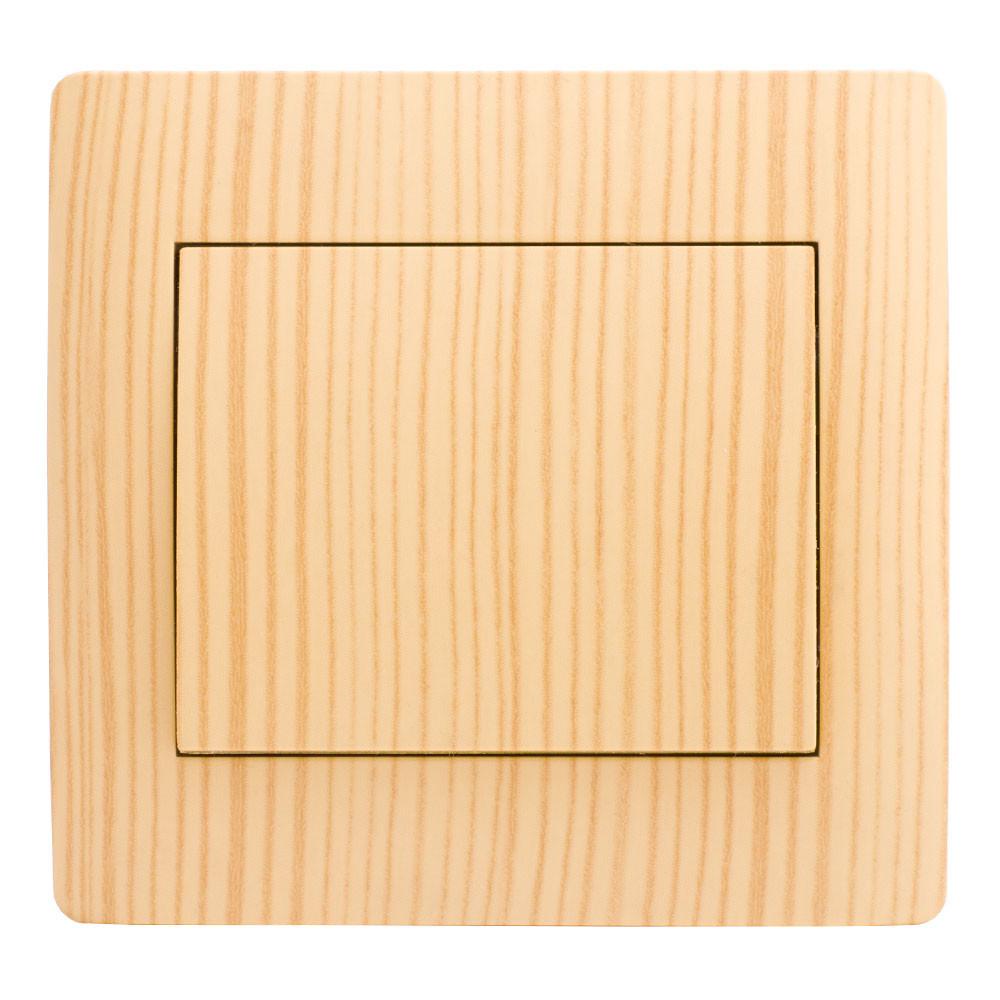 Выключатель (с рамкой) LXL Oscar дуб