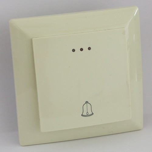 Кнопка звонка с подсветкой LXL Ultra кремовая