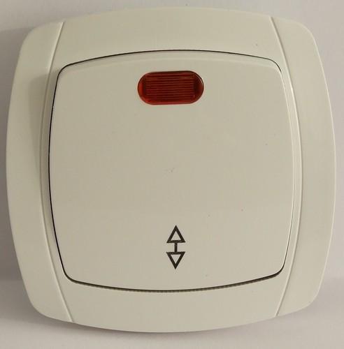 Выключатель проходной с подсветкой LXL Beta белый