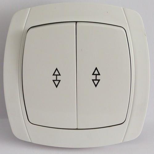 Выключатель проходной двойной LXL Beta белый