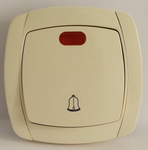 Кнопка звонка с подсветкой LXL Beta кремовая