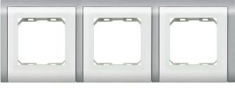 Рамка 3 места квадратная LXL Sirius белая