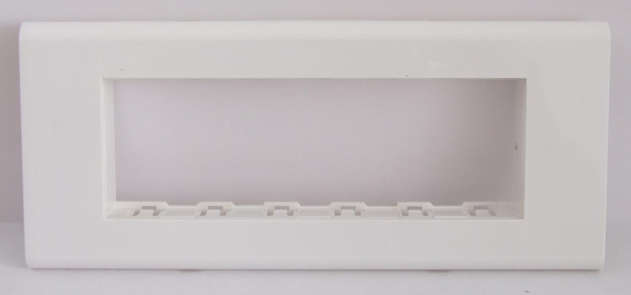 Рамка на 6 модулей 45х22.5 LXL Sirius белая (итальянский тип)