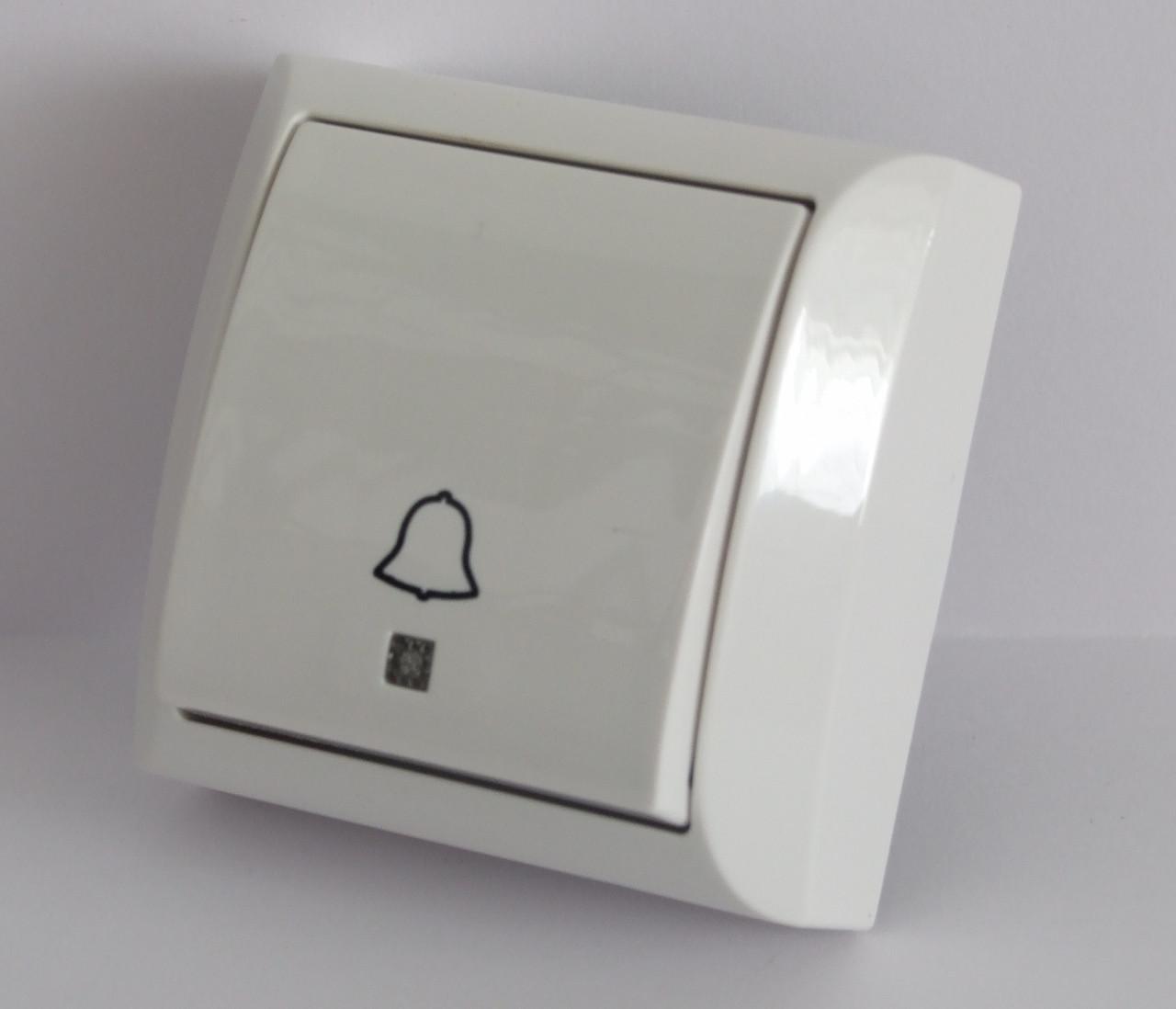 Кнопка звонка с подсветкой белая LXL Terra
